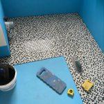 bathroom shower mosaic tiling