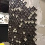 fish scale wall mosaic tiling