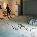 floor self leveling cleaning