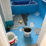 shower bathroom mosaic tiling