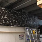 wall fish scale mosaic tiling