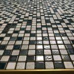 bathroom floor mosaic tiling