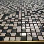 shower bathroom floor mosaic tiling