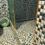shower mosaic tiling
